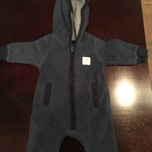 Carters navy blue fleece bodysuit